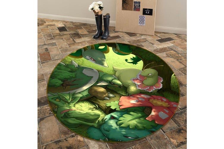 3D Pokemon 6978 Round Anime Non Slip Rug Mat, 180cm(70.9'')