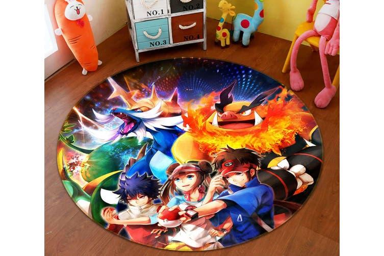 3D Pokemon 4463 Round Anime Non Slip Rug Mat, 60cm(23.6'')