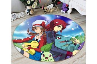 3D Pokemon 3675 Round Anime Non Slip Rug Mat, 200cm(78.7'')