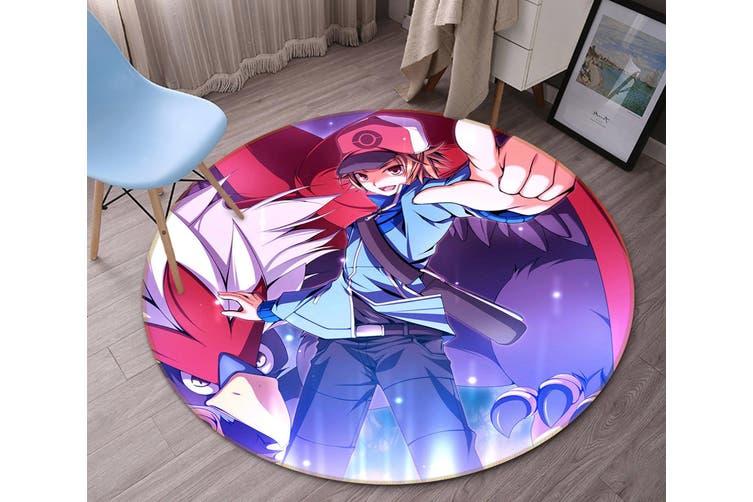 3D Pokemon 2988 Round Anime Non Slip Rug Mat, 60cm(23.6'')