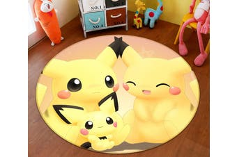 3D Pokemon 8932 Round Anime Non Slip Rug Mat, 60cm(23.6'')