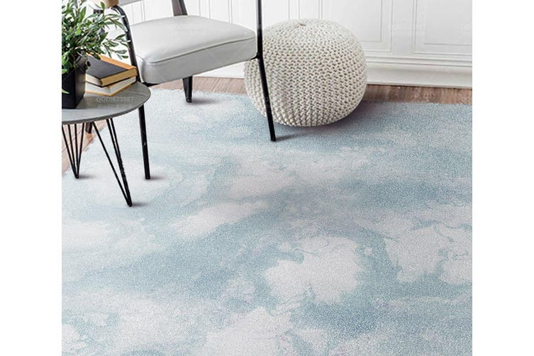 "3D Light Blue Pattern WG237 Non Slip Rug Mat, 60cmx90cm (23.6""x35.4"")"