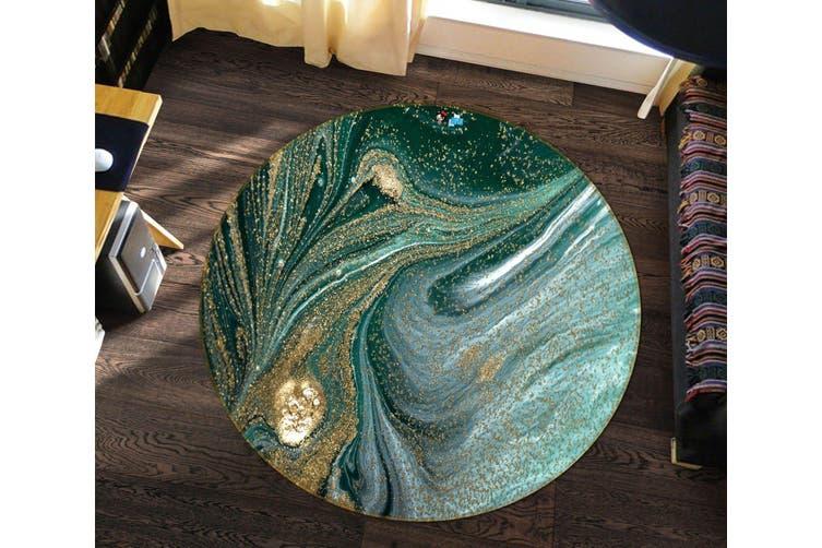 3D Green Quicksand 139 Round Non Slip Rug Mat, 60cm(23.6'')
