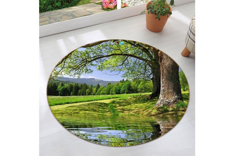 3D Shore Tree 354 Round Non Slip Rug Mat, 60cm(23.6'')