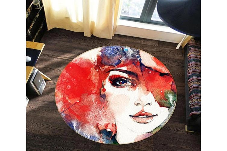 3D Oil Painting Woman 352 Round Non Slip Rug Mat, 180cm(70.9'')