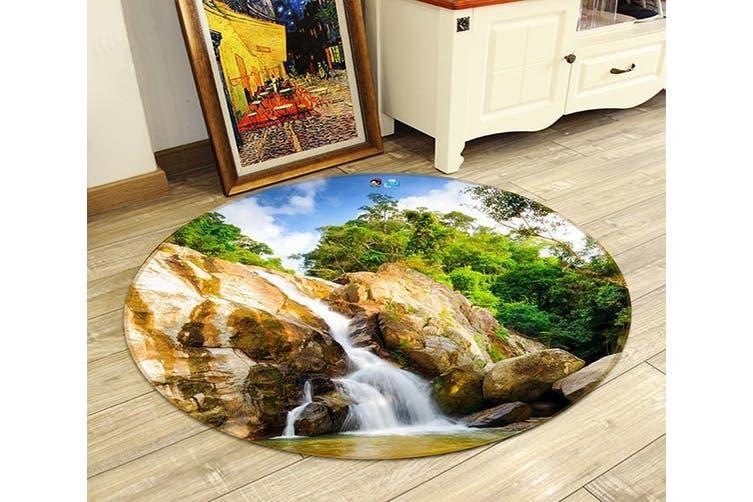 3D Stone Tree 351 Round Non Slip Rug Mat, 120cm(47.2'')