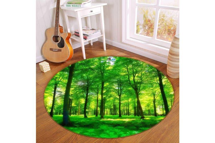3D Grassland Forest 347 Round Non Slip Rug Mat, 120cm(47.2'')