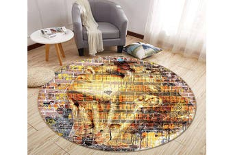 3D Wall Painting Woman 342 Round Non Slip Rug Mat, 60cm(23.6'')