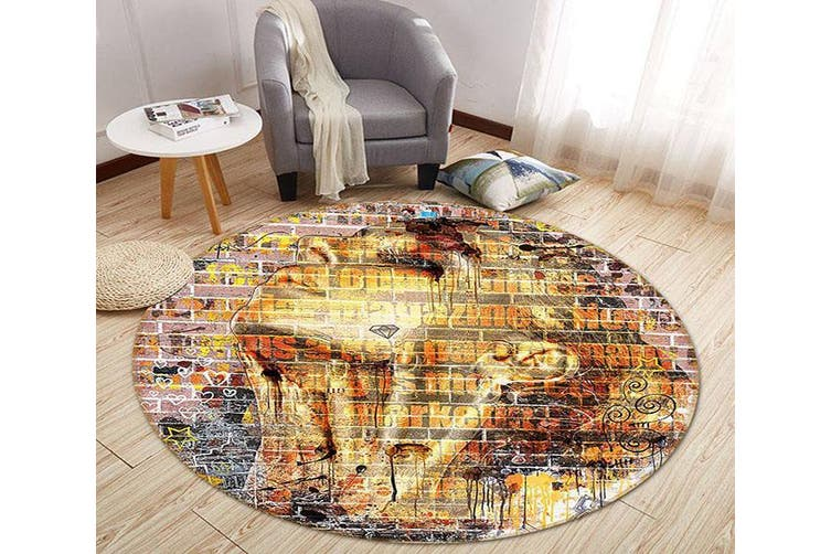 3D Wall Painting Woman 342 Round Non Slip Rug Mat, 160cm(63'')