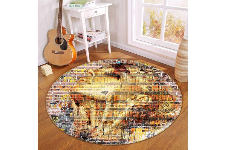 3D Wall Painting Woman 342 Round Non Slip Rug Mat, 180cm(70.9'')