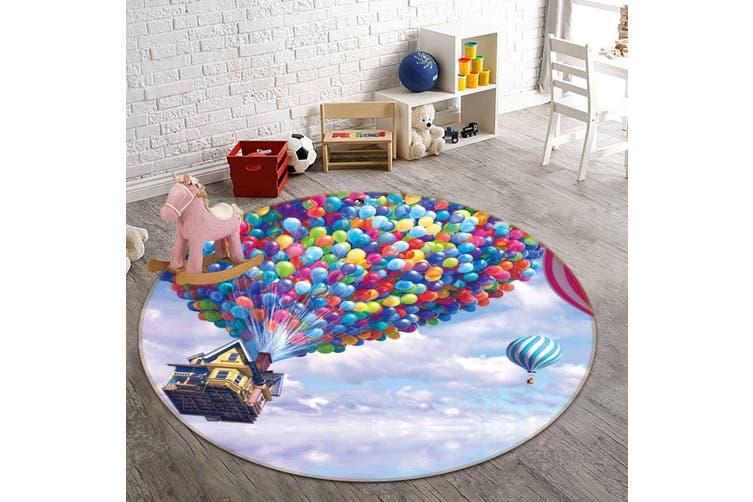 3D Balloon House 328 Round Non Slip Rug Mat, 180cm(70.9'')