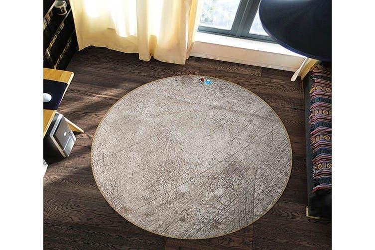 3D Obsolete Line 323 Round Non Slip Rug Mat, 180cm(70.9'')