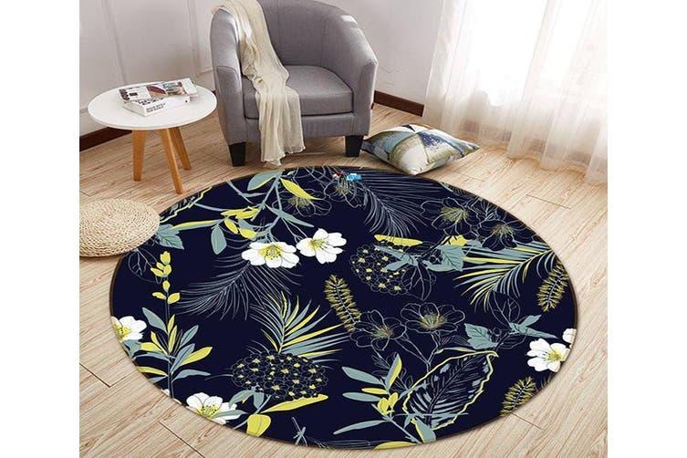 3D Invisible Flower 321 Round Non Slip Rug Mat, 60cm(23.6'')