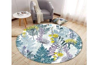 3D Graffiti Yellow Flower 317 Round Non Slip Rug Mat, 60cm(23.6'')