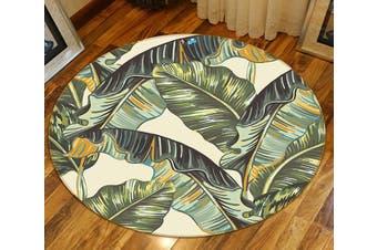 3D Hand Drawn Leaves 298 Round Non Slip Rug Mat, 180cm(70.9'')