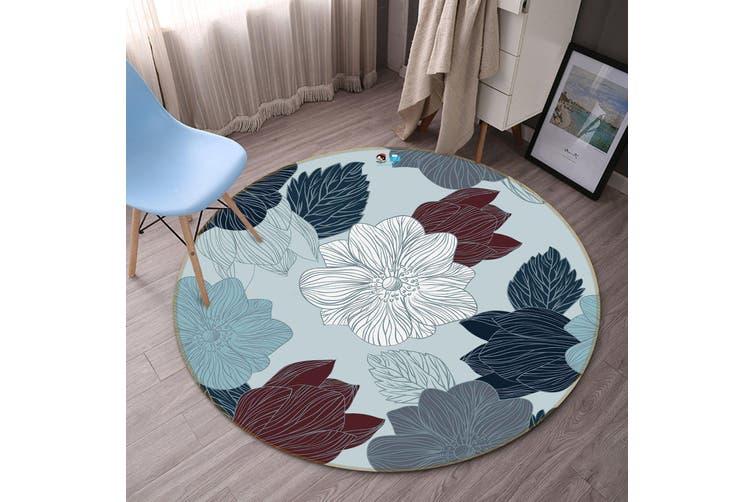 3D Painting Flower 289 Round Non Slip Rug Mat, 120cm(47.2'')