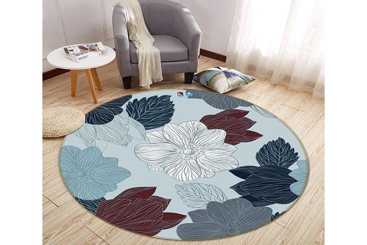 3D Painting Flower 289 Round Non Slip Rug Mat, 200cm(78.7'')