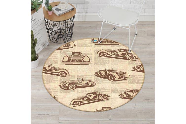 3D Luxury Car Pattern 284 Round Non Slip Rug Mat, 120cm(47.2'')