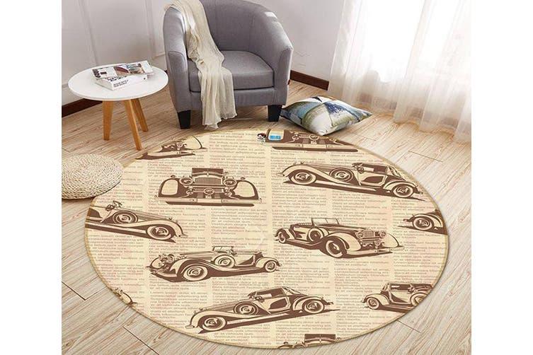3D Luxury Car Pattern 284 Round Non Slip Rug Mat, 180cm(70.9'')
