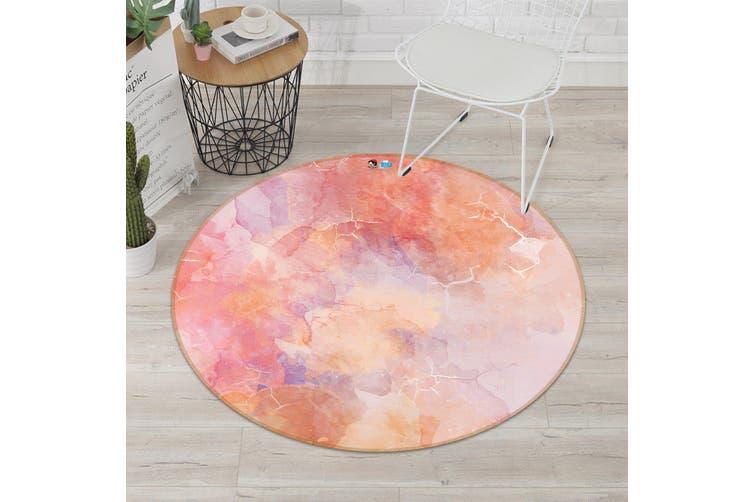 3D Red Stone Pattern 186 Round Non Slip Rug Mat, 160cm(63'')