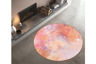 3D Red Stone Pattern 186 Round Non Slip Rug Mat, 200cm(78.7'')