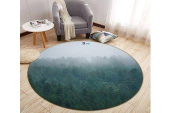 3D Fog Forest 183 Round Non Slip Rug Mat, 100cm(39.4'')