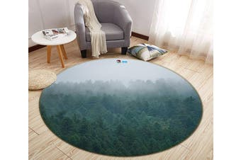 3D Fog Forest 183 Round Non Slip Rug Mat, 120cm(47.2'')