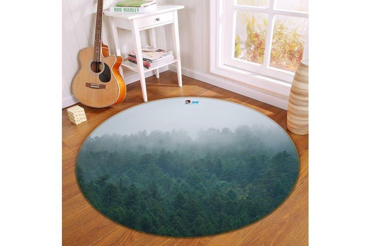 3D Fog Forest 183 Round Non Slip Rug Mat, 180cm(70.9'')