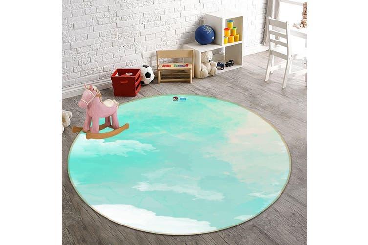 3D Gouache Cloud 182 Round Non Slip Rug Mat, 60cm(23.6'')
