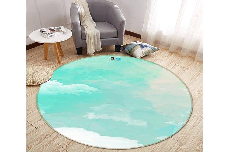 3D Gouache Cloud 182 Round Non Slip Rug Mat, 180cm(70.9'')