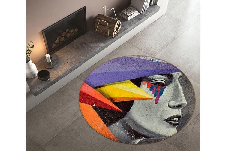 3D Colorful Tears 171 Round Non Slip Rug Mat, 100cm(39.4'')