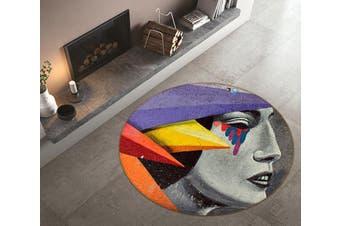 3D Colorful Tears 171 Round Non Slip Rug Mat, 180cm(70.9'')