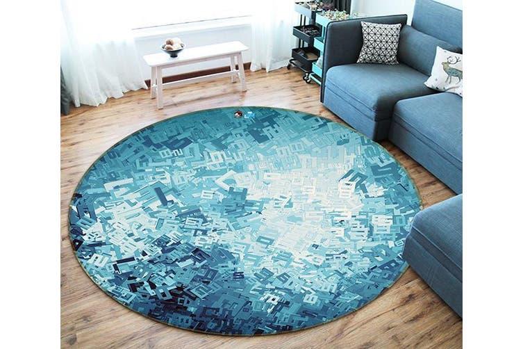 3D Digital Sheet 165 Round Non Slip Rug Mat, 60cm(23.6'')