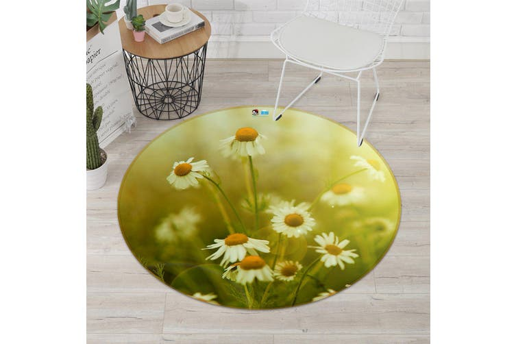 3D Chrysanthemum Field 164 Round Non Slip Rug Mat, 160cm(63'')