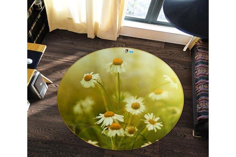 3D Chrysanthemum Field 164 Round Non Slip Rug Mat, 200cm(78.7'')