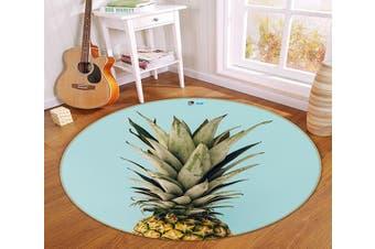 3D Big Pineapple 163 Round Non Slip Rug Mat, 160cm(63'')