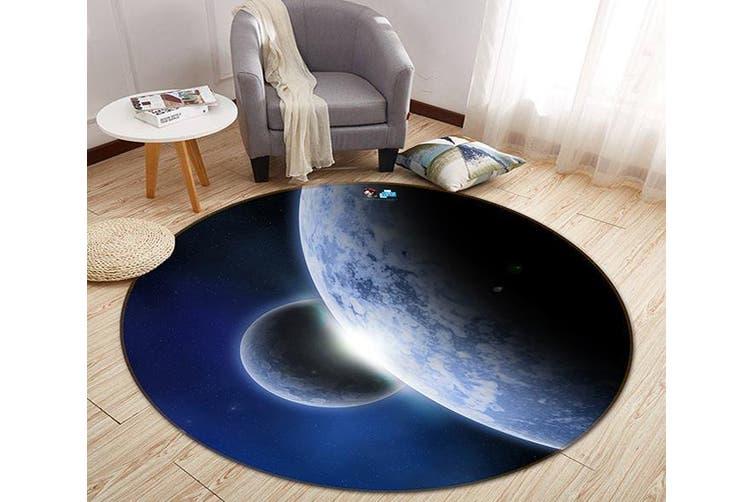 3D Planet Handover 161 Round Non Slip Rug Mat, 60cm(23.6'')