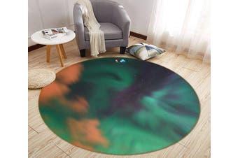 3D Hazy Cloud 159 Round Non Slip Rug Mat, 120cm(47.2'')