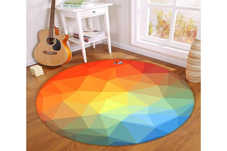 3D Three-Dimensional 144 Round Non Slip Rug Mat, 120cm(47.2'')