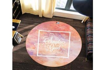 3D Pink Stone 141 Round Non Slip Rug Mat, 100cm(39.4'')