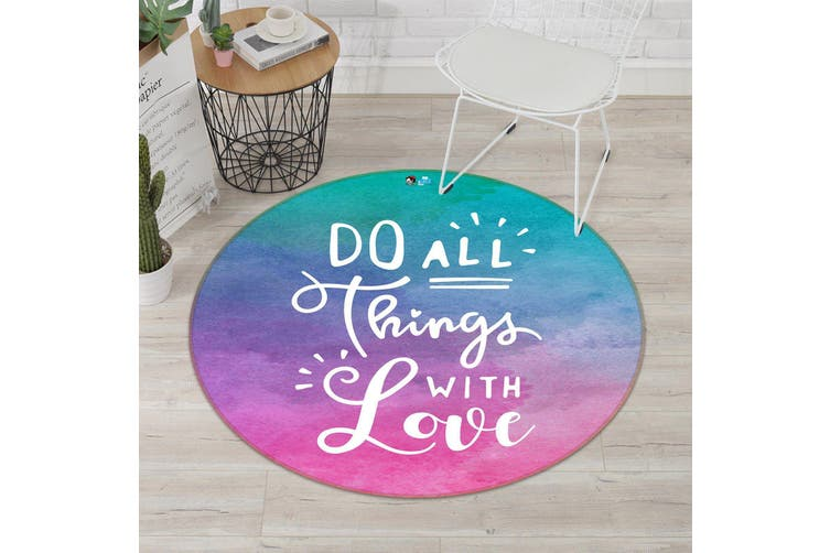 3D English Gradient 139 Round Non Slip Rug Mat, 60cm(23.6'')