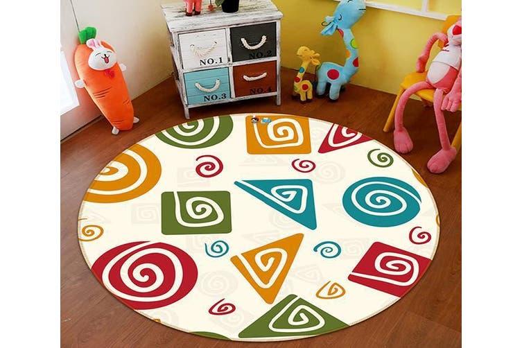 3D Color Pattern 136 Round Non Slip Rug Mat, 60cm(23.6'')