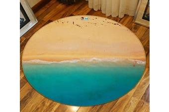 3D Beach Play 131 Round Non Slip Rug Mat, 120cm(47.2'')