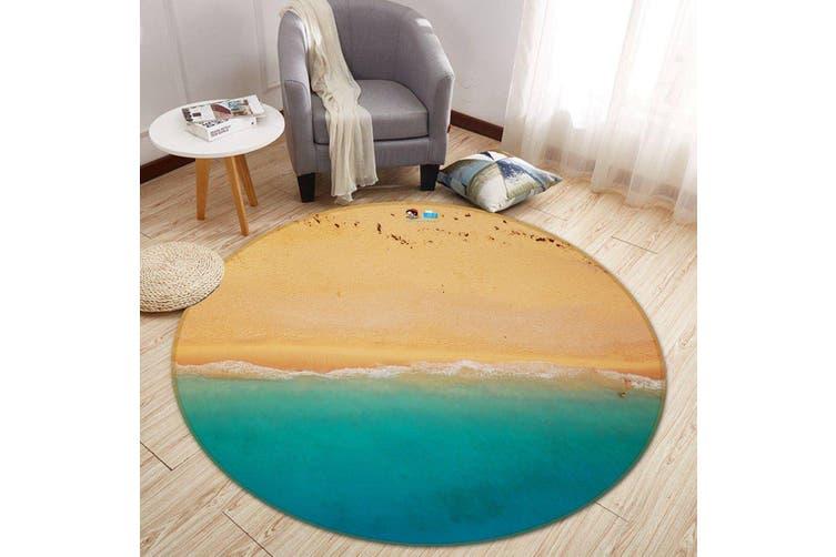 3D Beach Play 131 Round Non Slip Rug Mat, 200cm(78.7'')