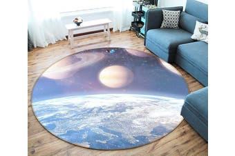 3D Earth Moon 128 Round Non Slip Rug Mat, 60cm(23.6'')
