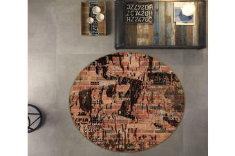3D Wall Painting 114 Round Non Slip Rug Mat, 160cm(63'')