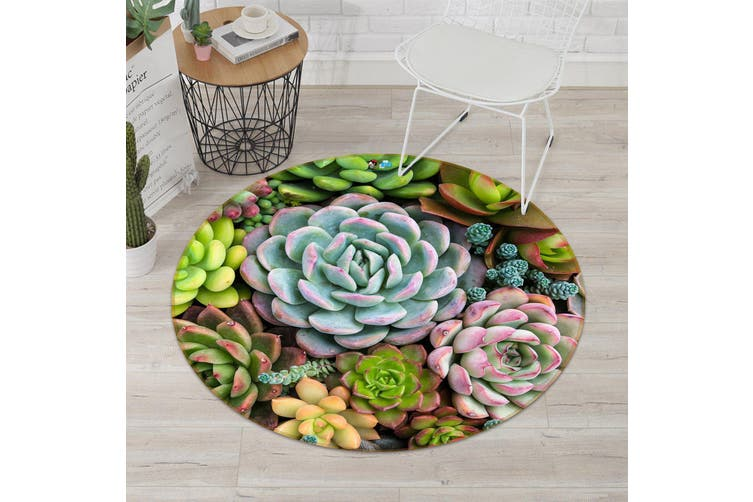 3D Many Meat 108 Round Non Slip Rug Mat, 100cm(39.4'')