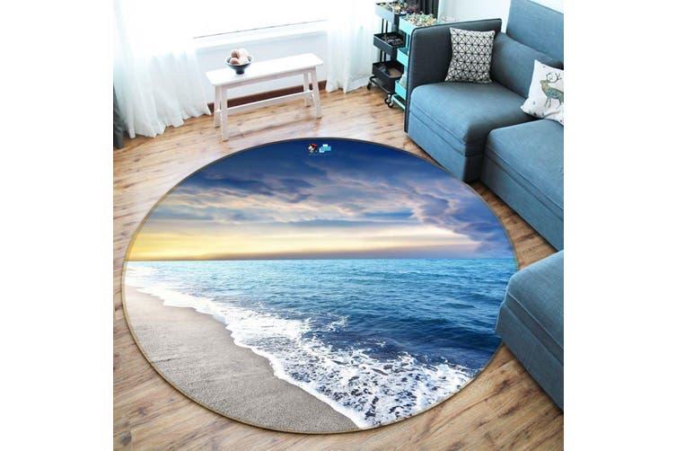 3D Peaceful Sea Scenery 133 Round Non Slip Rug Mat, 120cm(47.2'')