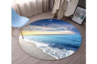 3D Peaceful Sea Scenery 133 Round Non Slip Rug Mat, 180cm(70.9'')