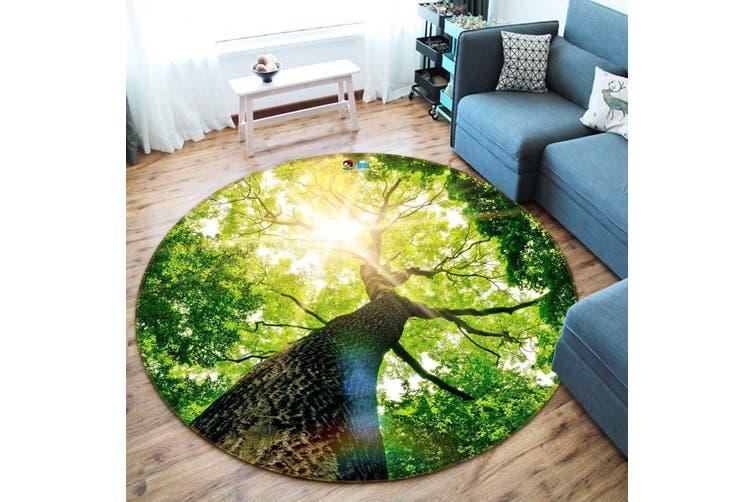 3D Treetop Sunshine 128 Round Non Slip Rug Mat, 160cm(63'')